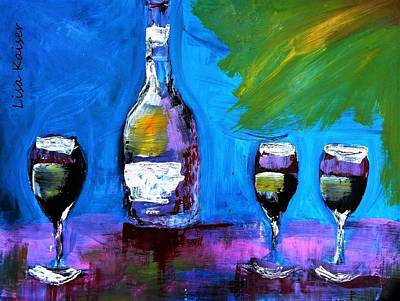 Wine Painting - The Wisecracker by Lisa Kaiser