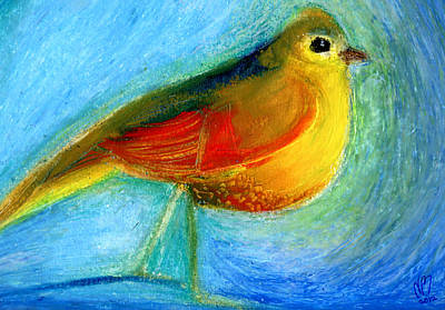 Etched Painting - The Wishing Bird by Nancy Moniz