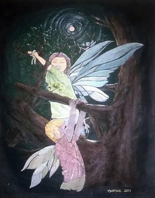 Fairys Painting - The Wishing Tree by Martine Murphy