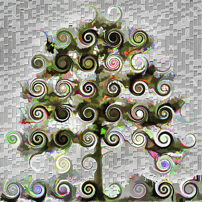 Digital Art - The Wishing Tree by Wendy J St Christopher