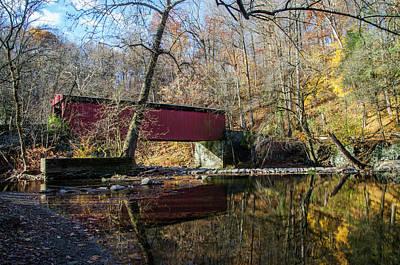 The Wissahickon Creek - Thomas Mill Covered Bridge Art Print