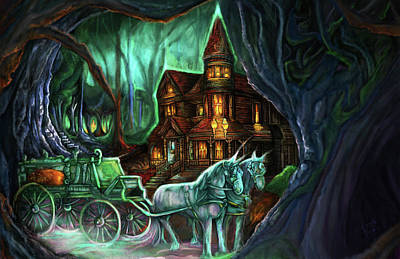 Victorian Death Digital Art - The Witch House by Clown Coffins
