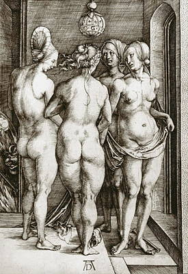 Mysterious Doorway Painting - The Witches by Albrecht Durer