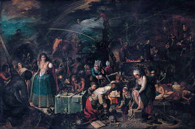 Painting - The Witches Sabbath by Frans Francken the Younger