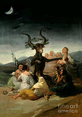 Adoration Painting - The Witches' Sabbath by Goya