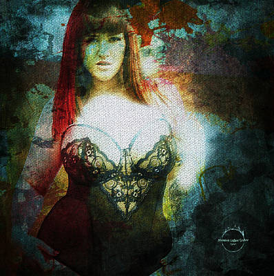 Digital Art - The Witching Hour by Absinthe Art By Michelle LeAnn Scott