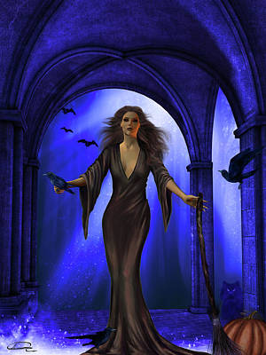 The Witching Hour Art Print by Emma Alvarez