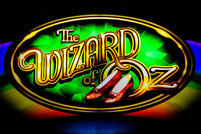 Wizard Of Oz Photograph - The Wizard Of Oz Casino Sign by David Patterson