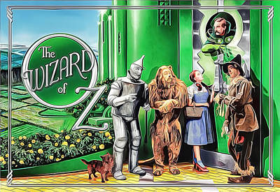 Garland Park Painting - The Wizard Of Oz by Nenad Cerovic