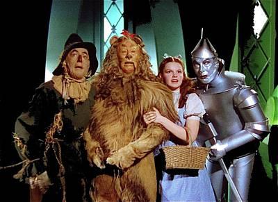 The Wizard Of Oz  Quartet Eric Carpenter Publicity Kodachrome 1939 Art Print