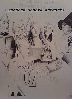 Alfred George Stevens Painting - The Wizard Of Oz by Sandeep Kumar Sahota