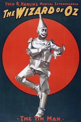 The Tin Man Photograph - The Wizard Of Oz, The First Stage by Everett
