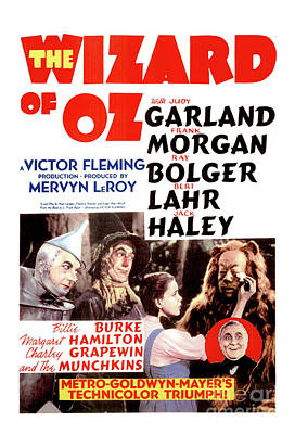 Photograph - The Wizard Of Oz - Vintage Poster by Doc Braham