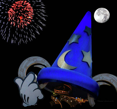 Wizard Photograph - The Wizard Walt Disney World Mp by Thomas Woolworth