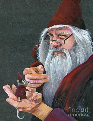 Painting - The Wizard's Apprentice by J W Baker