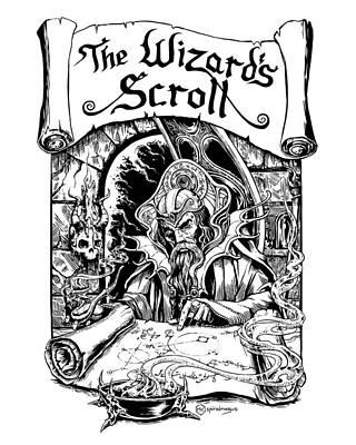 Digital Art - The Wizard's Scroll #1 by Michael Clarke
