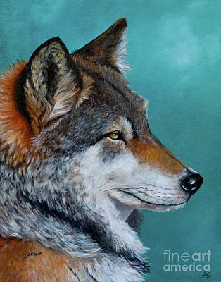Painting - The Wolf by Kathryn Whiteford
