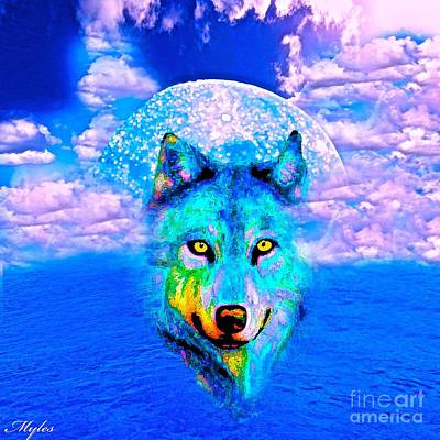 Painting - The Wolf by Saundra Myles