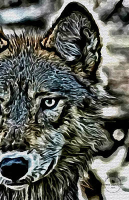 Digital Art - The Wolf Spirit  by Absinthe Art By Michelle LeAnn Scott