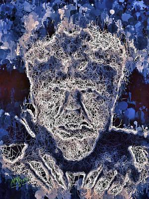 Mixed Media - The Wolfman by Al Matra