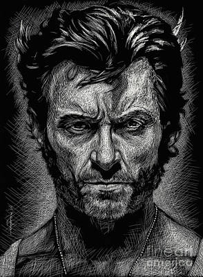 Drawing - The Wolverine by Maria Arango