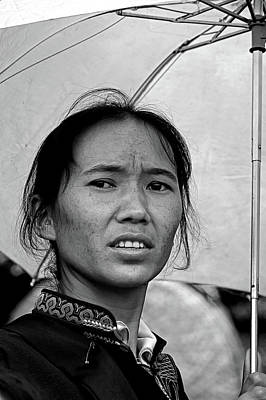 The Woman And Her Umbrella Original by Alain Gaymard