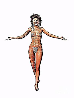 Woman Lingerie Digital Art - The Woman, Digital Art By Mb by Mary Bassett