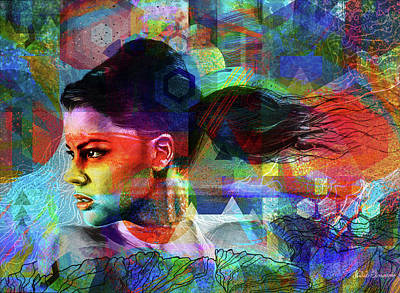 The Woman Of Spring Art Print
