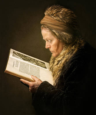 Rembrandt Photograph - The Woman Reading by Anita Meezen