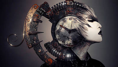 Digital Art - The Woman That Time Forgot by ISAW Company