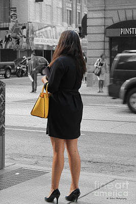 Photograph - The Woman With The Yellow Purse by Nina Silver