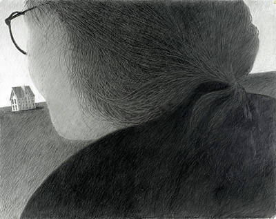 Lincoln Memorial Drawing - The Woman's Perspective by John Grazier