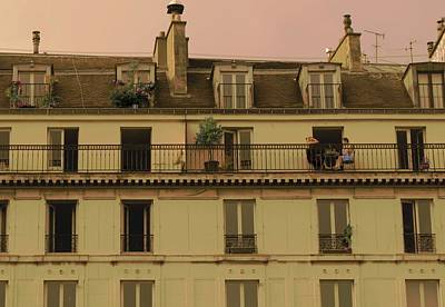 Photograph - The Women On The Balcony by Louise Fahy