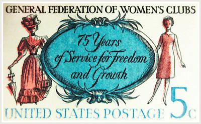 The Women's Clubs Stamp Art Print