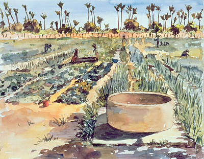 West Africa Painting - The Wome's Garden  Senegal West Africa by Tilly Willis