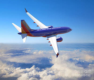 Passenger Plane Mixed Media - The Wonder Of Flight by Garland Johnson