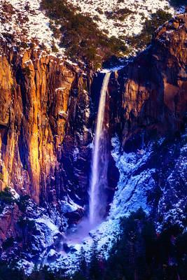 Snowy Mountain Photograph - The Wonderful Bridalveil  Falls by Garry Gay