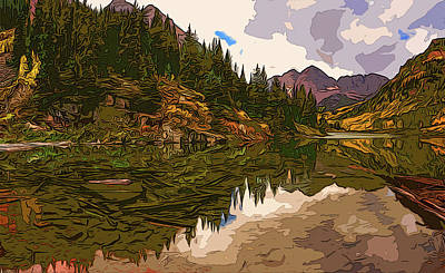 Painting - The Wonderful Maroon Bells In Autumn by Andrea Mazzocchetti