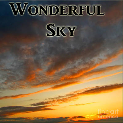Photograph - The Wonderful Sky Logo by Debbie Portwood