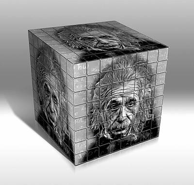 Mixed Media - The Wonders Of Albert Einstein  by Marvin Blaine