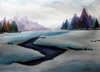 Ruben Carrillo Wall Art - Painting - The Wonders Of Winter by Ruben Carrillo