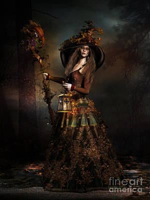 Witch Digital Art - The Wood Witch by Shanina Conway