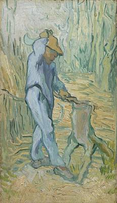 Painting - The Woodcutter After Millet Saint Remy De Provence September 1889 Vincent Van Gogh 1853  1890 by Artistic Panda