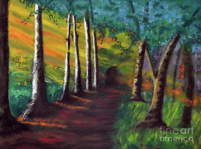 Painting - The Wooded Path To Somewhere by Lydia Holly