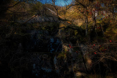 Photograph - The Wooden Bridge At Bracklin Falls In Callander by Jeremy Lavender Photography