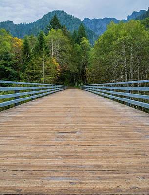 Thomas Kinkade Royalty Free Images - The Wooden Bridge Royalty-Free Image by Julie Craig