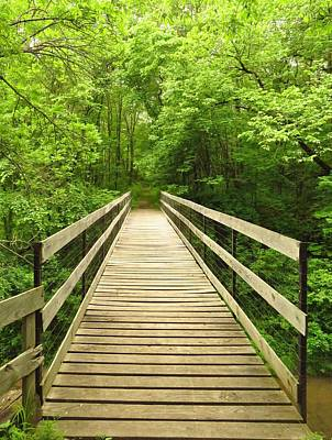 Photograph - The Wooden Bridge by Lori Frisch