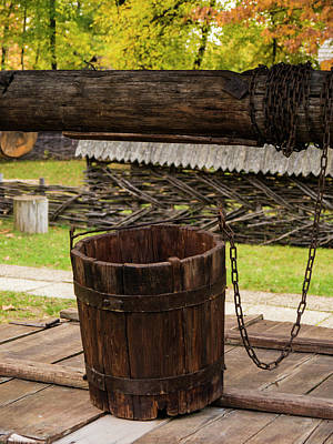 Photograph - The Wooden Bucket by Rae Tucker