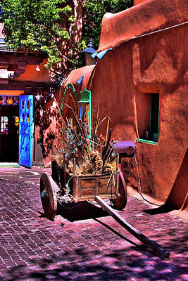 Santa Fe Photograph - The Wooden Cart by David Patterson