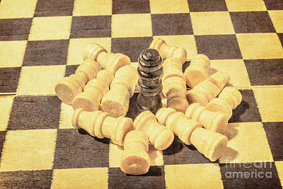 Check Wall Art - Photograph - The Wooden Checkmate Tournament by Jorgo Photography - Wall Art Gallery